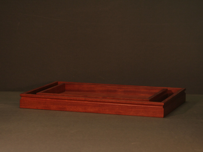 Serving trays in bubinga