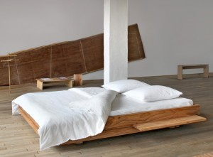 Bed designed by Philippe Allaeys and Joram Schurmans